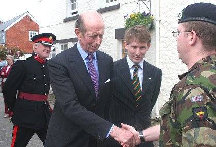 Duke of Kent visits Arkell's brewery in Swindon