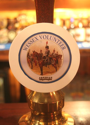 Duke of Kent unveils Wessex Volunteer commemorative ale at Arkell's brewery in Swindon