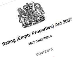 Rating (Empty Properties Act) 2007 which is accused of effecting Swindon business growth