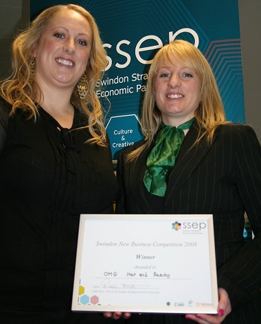 OMG Hair and Beauty - winners of the SSEP New Small Business of the Year 2008