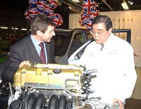 Nigel Griffiths with Honda President, Minoru Harada