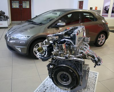 Swindon-built Honda Civic and engine