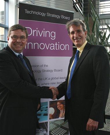 Tecnology Strategy Board Chief Executive Ian Gray with Swindon MP Michael Wills