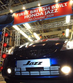 Honda Jazz rolls off the Swindon production line