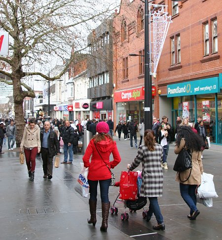 Boxing Day Sales in Swindon town centre