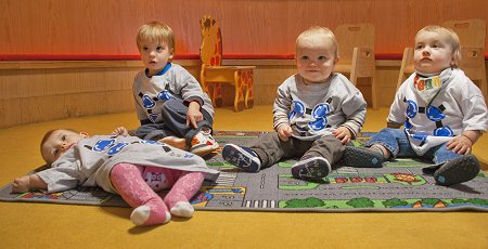 Toddlers in Magic Roundabout t-shirts