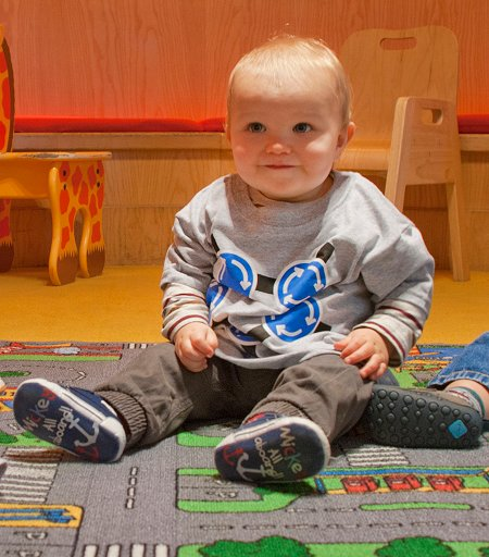 Toddler in Magic Roundabout t-shirt
