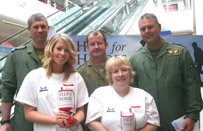 Help for Heroes charity raising money at the Brunel centre in Swindon