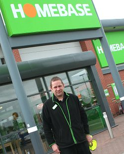 Rob Gill, Manager of Homebase superstore in Greenbridge, Swindon