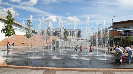 Asda Walmart Fountains Swindon