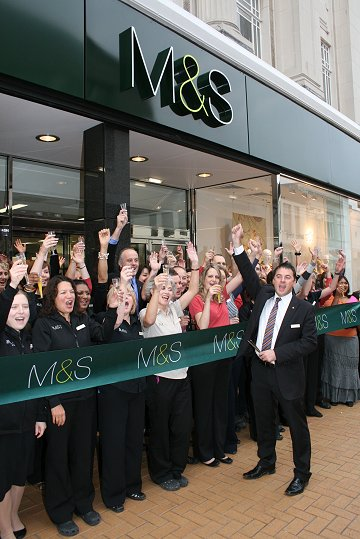 Marks and Spencer Swindon new opening 18 09 08