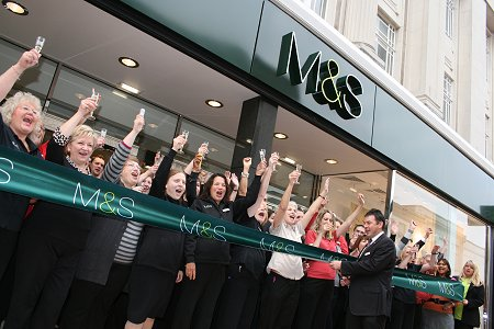 Marks and Spencer Store re-opening 18 09 08