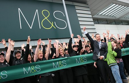 Marks and Spencer store opening at the Orbital Shopping park in north Swindon