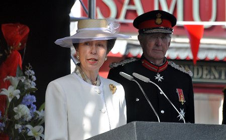 Princess Royal at the official naming ceremony of Royal Wootton Bassett