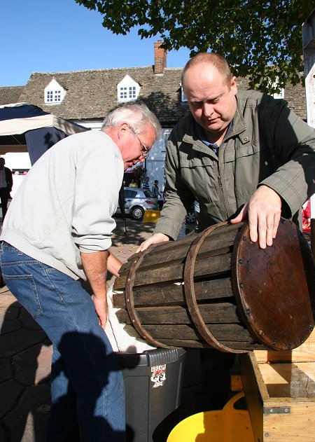 Cider making in Highworth market square