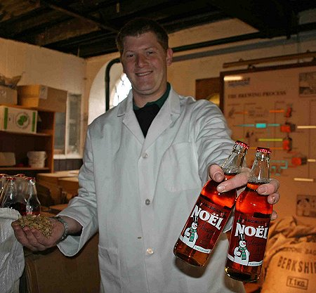 Alex Arkell brewing Noel Ale at Kingsdown Brewery, Swindon