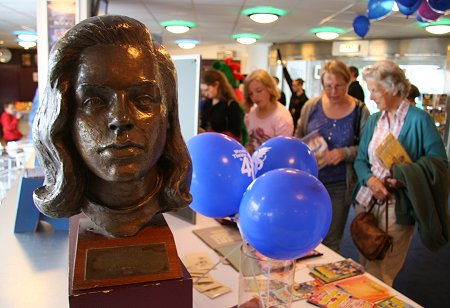 Diana Dors bust at the Wyvern Theatre Swindon