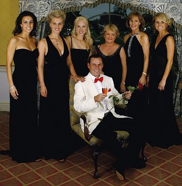 David with player's wives and girlfriends