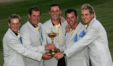 David and team mates with Ryder Cup