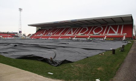 Swindon Town frozen pitch