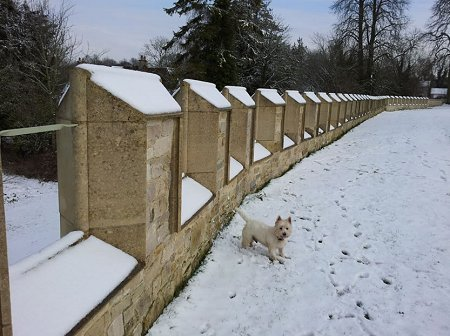 Lydiard Park covered in snow