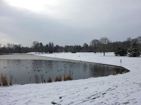 Lydiard Park Swindon covered in snow