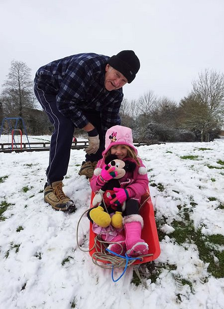 sledging in West Swindon