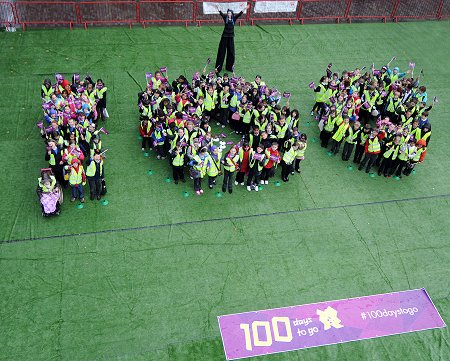 Olympics 100 day countdown in Swindon