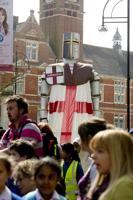 St. George's Day Parade in Swindon Town Centre