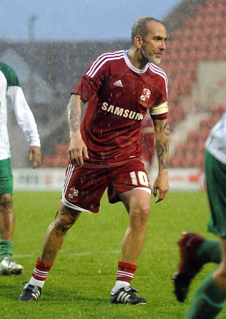 Paolo Di Canio playing in a Swindon Legends game at the County Ground 02 May 2012