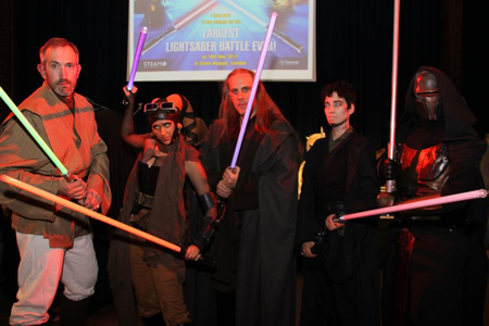Swindon Lightsaber Battle STEAM