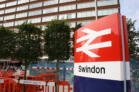 Swindon train station forecourt