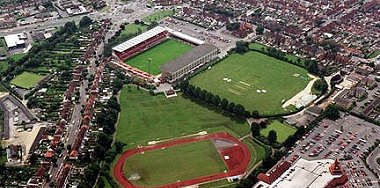 Aerial view of County Ground