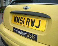 SwindonWeb Number Plate
