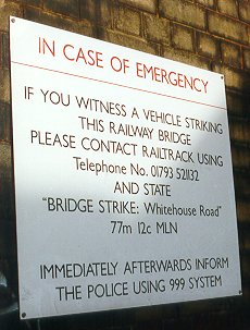 Notice Board on Whitehouse Bridge