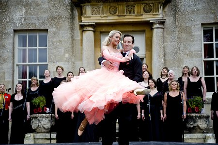 Strictly Come Dancing star Anton De Beke and Kristina Rihanoff perform at Lydiard Park, Swindon
