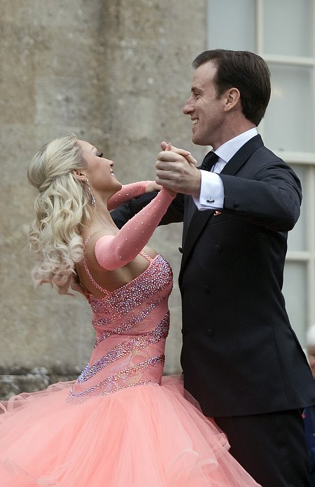 Strictly Come Dancing stars Anton De Beke and Kristina Rihanoff perform at Lydiard Park, Swindon