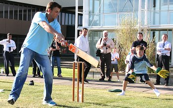 Australian Cricketer Adam Gilchrist - in Swindon, 30 August 2005