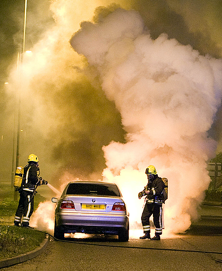 Young Driver Car Fire Swindon
