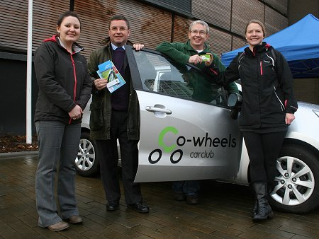 Co-Wheels Swindon launch with Swindon MP Robert Buckland, Swindon Travel Choices & Sunstrans