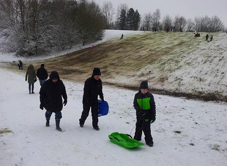 Coate Water Sledging