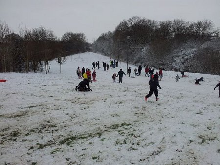 Snow fun in Redhouse Swindon