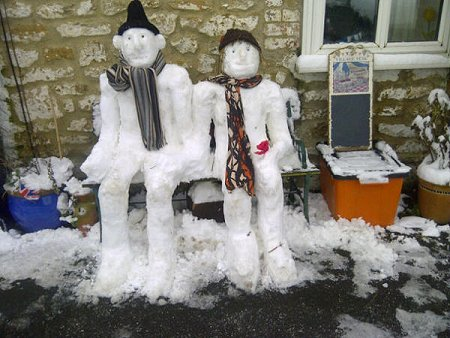 Snowman in Westrop, Highworth