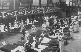 Temporary hospital at Milton Road baths