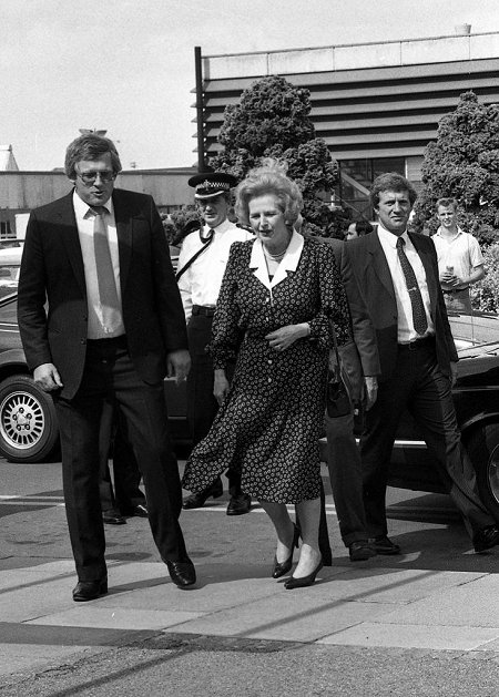 Maggie Thatcher in Swndon