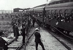 Trains during WW1
