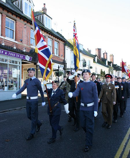 Remembrance Sunday in Highworth 10 November 2013