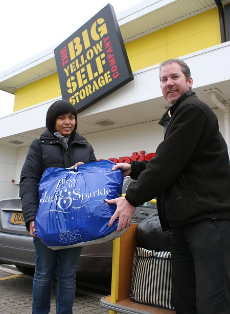 Big Yellow Swindon receiving donations for the Philippines Typhoon Disaster Appeal Swindon
