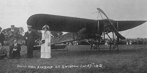 The first plane to land in Swindon - 27 July 1912
