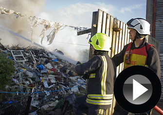 Major Fire at Greenbridge Waste Site